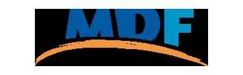 Het logo van Maatschappelijke Dienstverlening Flevoland, partner van het vraaghuis in Zeewolde