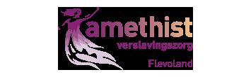 Het logo van Amethist, partner van het vraaghuis in Zeewolde