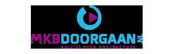 Het logo van MKBDoorgaan.nl, partner van het vraaghuis